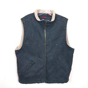 Wolverine sherpa lined Cotton Canvas Vest  Large